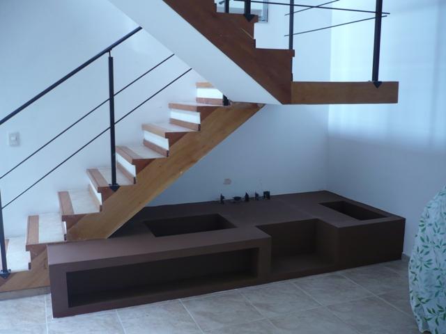 Mueble bajo escalera la plata durlock for Cama bajo escalera